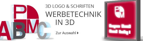 3D Logo und Buchstaben Hersteller als LED Leuchtkasten oder Leuchtwerbung.
